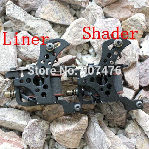 Premade Tattoo Machine Gun Com Frame Ferro Para Tattoo Equipment Fornecedor 2pcs / lot(China (Mainland))