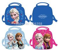 New retail Frozen Lunch Bag /Thermal Bag/kids Elsa Anna Olaf Lunch box /Children Cartoon Messenger bag ,24*20*7cm