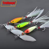 Spinnerbait 3pcs 9g lures,Trulinoya spirit spinner lures,fishing lures,fishing hard bait Blades Treble Hooks metal spoons