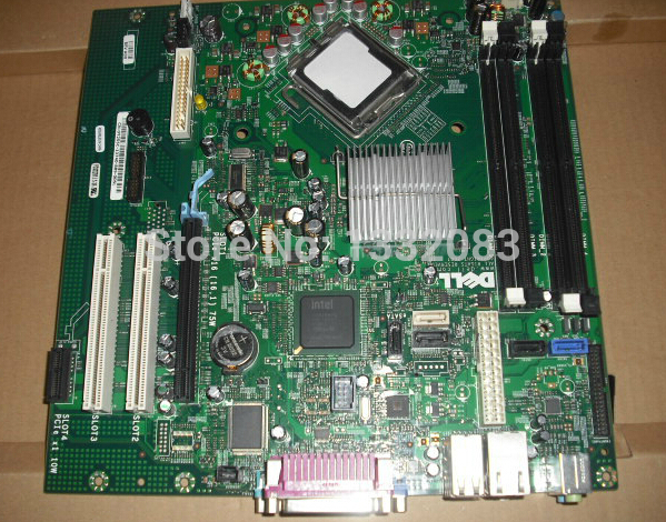 Free Shipping 90% new for Dell OptiPlex 755 MT desktop motherboard Intel Q35 DDR2 GM819 JR271 0GM819 0JR271 LGA775 BTX on sale(China (Mainland))