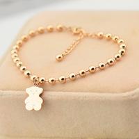rose gold beads Winnie bracelet 18K rose gold color gold bracelet female  titanium steel  bracelet