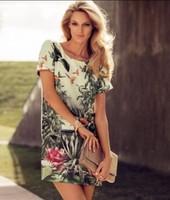 HOT SELLING ! 2014 summer women dress bird Ink Tree dress Environmental Series dress free shipping Y390