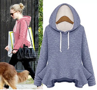 8979 #  2014 new winter fashion pullovers  sweater plus thick velvet hooded fleece sweatshirt casual free shipping