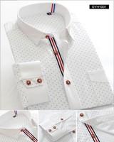 Free shipping Spring Autumn Men'S Dress Shirts Long Sleeve Commerce Shirts Men Cotton Casual Polka Dot Brand Thin Formal Shirts