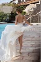 Custom Beach Wedding Dress Backless New High Quality Sexy Beautiful Chiffon White/Ivory Bridal Gown Size Hot style