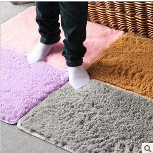 New Plush Velvet Slip Mats And Dust Doormat Absorbent Bathroom Floor Rug Washable/Can Be Cleaned Bath Mat/Bathroom Floor Rugs(China (Mainland))