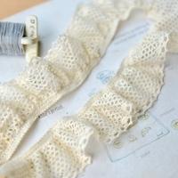E720 DIY clothes laciness accessories beige elastic cotton lace 4.5cm garments accessories (10m/lot)