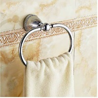 Free Shipping!  New Modern Polished Chrome Bathroom Towel Rack Holder Towel Ring Wall Mounted