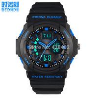 2014 Mens Outdoor Analog+Digital Watch 50M Waterproof Sports Watch Luminous Alarm Clock Date Multifunction PU Strap Watches