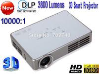2014 New DLP 3D Smart Projector 3800 lumens Free Shipping