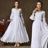 High Quality Women 2014 Autumn Winter Original Design Vintage Elegant Chiffon Tank Dresses,Mopping pearl collar evening dress