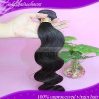 6A human hair weave 1PC  body wave top quality unprocessed virgin brazilian hair ms lula hair