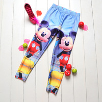 Drop ShipFashion Blackmilk leggings  2014 Mikey Cartoon Digital Printing Girl Pants School Child Leggings Sports Pants