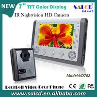 7 Inch sip video door phone Intercom system  Kit 1-camera 1-monitor Night Vision