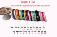 Rainbow marriage room decorated garland birthday wedding party decor Ribbon gift tie ribbon width 1cm* 22m/pc