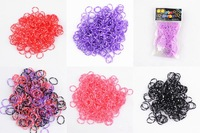 Colorful Rubber Loom 5 Style Best Toys For Children Baby Toy Diy Bracelets 1Pack / (600pcs bands +24 s-clips +1pcs hook )