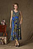 New Arrivals High Quality 2014 new put on Floral Dresses ,large lotus leaf wais retro Cocktail dresses