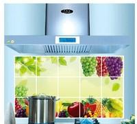 Free shipping top grade kitchen oil-proof sticker Aluminum foil material High temperature resistance lampblack-proof  sticker