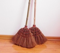 Large export hand-woven bristle broom household cleaning products natural materials healthy environmental  low carbon