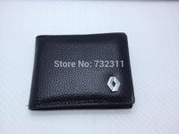Car emblem 100% Leather Driver's license leather sheath / Driving License Bag for Renault Scenic Koleos Fluence Latitude