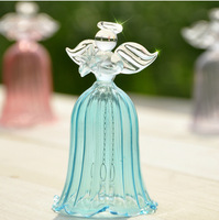 New hot Christmas home decoration wedding married transparent glass praying angel Wind Chime beautiful gift car pendant gifts