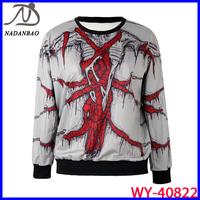Wholesale Autumn Winter 2014 Fashion Women Hoody NDF 3D Printed Sweatshirt  Women With Gothic Style WY-40822