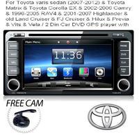 For Toyota yaris sedan & Toyota Matrix & Toyota Corolla EX  &  RAV4 &  Highlander & old Land Cruiser & 2 Din Car DVD GPS player