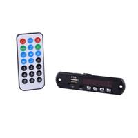 CT08E 1.5'' LCD MP3 Player Module w/ FM / USB/ / TF / 3.5mm Jack / Remote Controller - Black (12V)