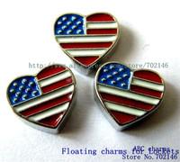 Mix Min Order $10 FC054  10pcs mix color National flag Floating Charm For glass  locket