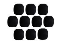 10 Pieces Black Handheld Stage Microphone Windscreen Foam Mic Cover Karaoke DJ