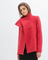2014 Winter Women turtleneck Wool Outerwear Coats Slim Ladies Fashion Coat Desigual Pockets Woollen Casacos Femininos For Women