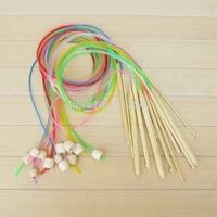 10 lots 12pcs/lot 1.2m Length 12 Sizes new arrival colorful Afghan Tunisia Bamboo Needle Blanket Crochet Hooks 25