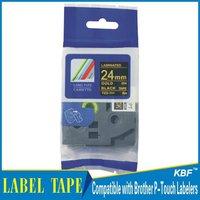 Cheap China 24mm gold on black tz label tape tz-354 / tz354