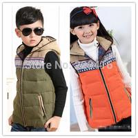 2014 new children winter down vest girls down vest boys down vest kids winter outwear