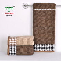 New2014 1PC 100% Cotton 140*70cm(55''*28'') HOUNDSTOOTH hand/Face towels magic towels Spa washcloth MMY Brand Free shipping