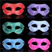 10pcs/Lot Mixed Color Flat Crack Cardan  Mask Half Face Halloween Props Masquerade Party Masks Costume Play Decorations