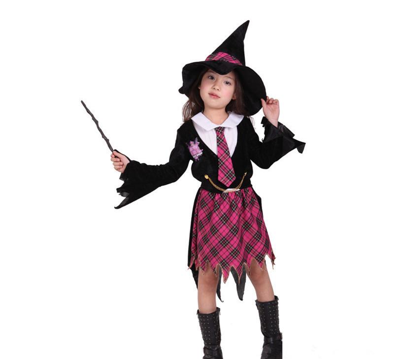 Fantasia cosplay pouco traje da bruxa Abra Academy terninhos menina festa de natal das bruxas roupa do carnaval vestido(China (Mainland))