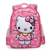 Free shipping 2014 New Arrive 3D Design Cartoon Schoolbag For Children Girls HelloKitty Printed School Bag Outdoor Backpacks