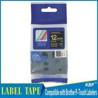 Cheap China 12mm gold on black tz label tape tz-334 / tz334