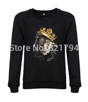 2014 new Arrival fashion men/women sweatshirts Lion Corporation AUTHENTIC FIERCE mens CALI LIFE hoodies design print fleece
