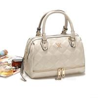 2014 high quality handbags Kardashian kk plaid rivet shoulder bag handbag messenger bag women's handbag work bags