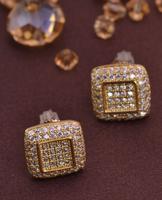LSE841 Zircon jewelry earring men screw back earrings Christmas gift, free shipping