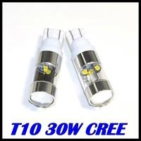 10pcs/lot t10 cree XQB led t10 194 168 w5w cree 30w Car Wedge Backup Rear ReverseTail LED Turn signal Parking Led White