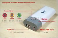 10pcs 2014  Enb 2x18650 battery Box Shell SMART POWER Case for iPhone5/4S Samsung Nokia Blackberry/MP3/4 flashlight FreeShipping