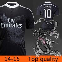 14/15 Real Madrid Soccer Jersey 2015 Real Madrid 14 15 Camisetas RONALDO Black Dragon JAMES Real Madrid Pink BALE Football Shirt