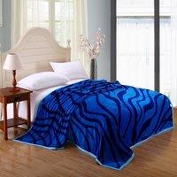 New150x200cm 180*200cm 200*230cm Thicken Fleece Blankets Bed 100% coral fleece flannel fabric super soft air-condition blankets