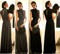 CHIC SEXY Turtleneck Open Back Party Evening Gown Cocktail Tunic Maxi Long Dress