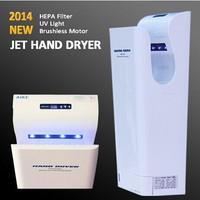 NEW Hand Dryer 2014 - UV Light High Speed Jet Dryer HEPA, Airblade Hand Dryer Automatic