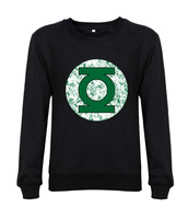 2014 New arrival men sweatshirts DC Comics Green Lantern Distressed men lovely sweatshirt fashion design printed 100% cotton