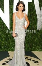 2014 recién llegado de Selena Gomez Celebrity Dress viste vestido de noche la vaina V Neck robe de soirée vestidos de fiesta(China (Mainland))